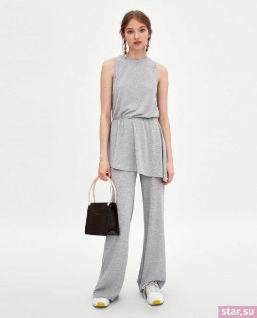 брюки женские: Серые клеш