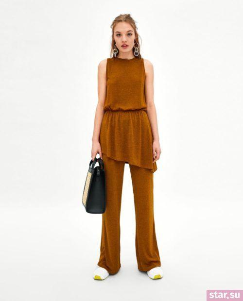 брюки женские: Коричневые клеш