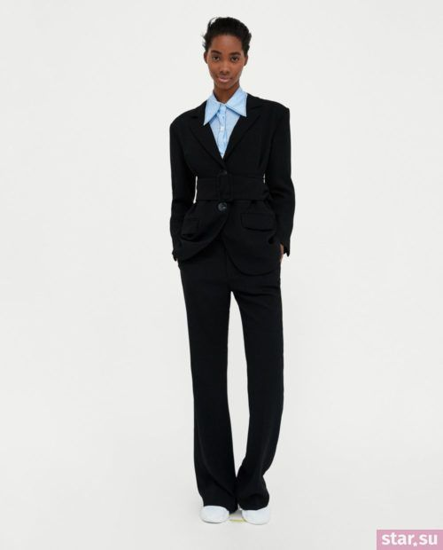 брюки женские: Черные клеш