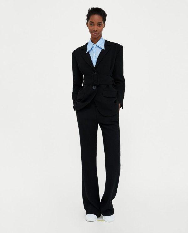 женские брюки Черные клеш
