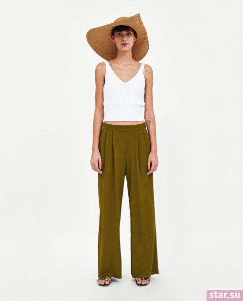 оливковые классические брюки 2018