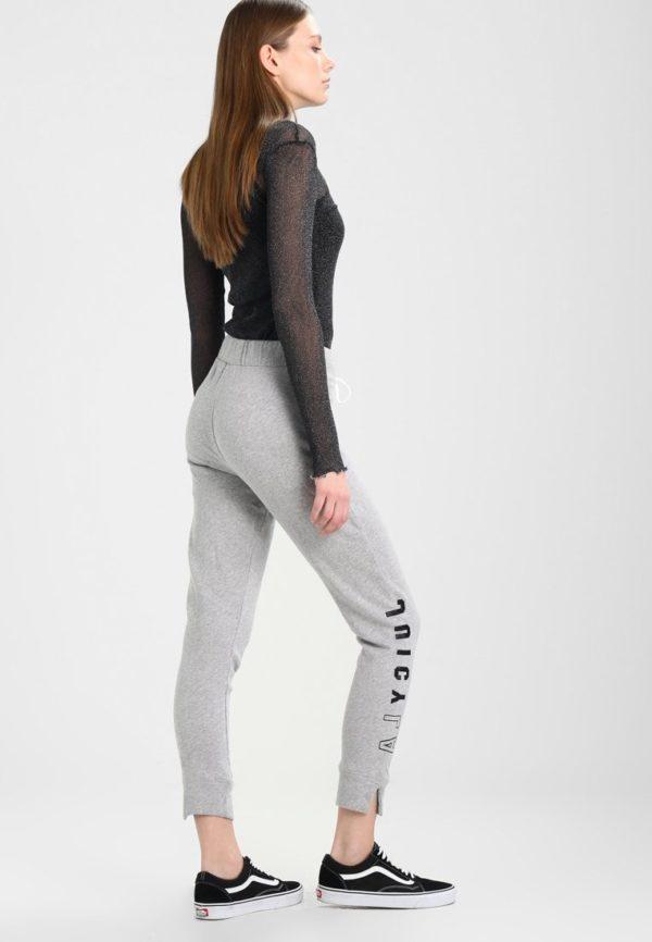 женские брюки 2019-2020: серые спортивные надписью