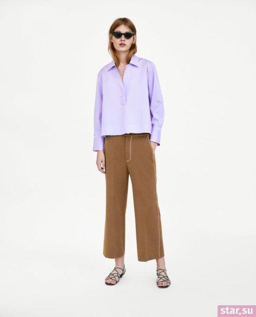 коричневые классические брюки 2018