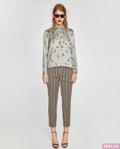 полосатые классические брюки 2018