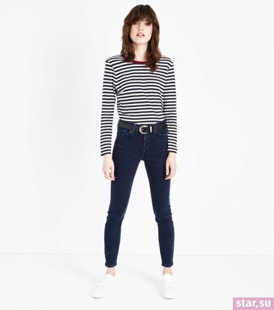 модные брюки для женщин: черные джинсы