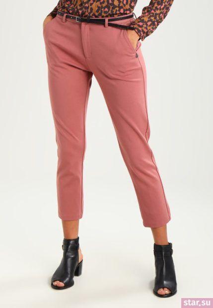 модные брюки 2018-2019: розовые укороченные