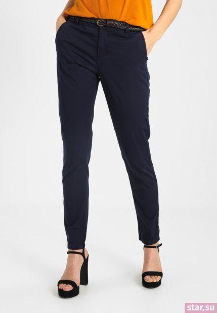модные брюки 2018-2019: черные узкие