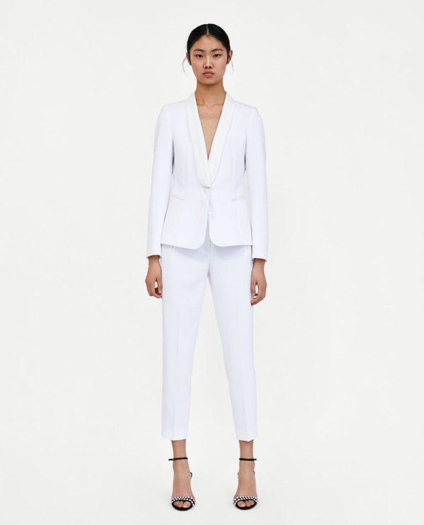 костюм 2018-2019 женский: классический белый