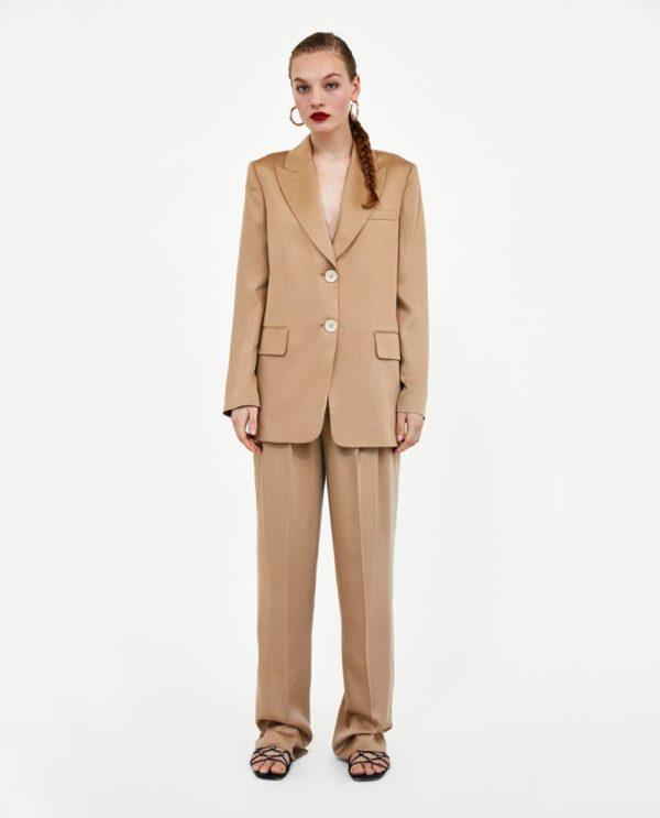 костюм 2018-2019 женский: классический коричневый