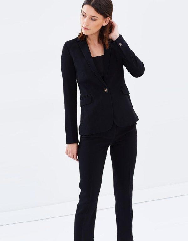 костюм 2020-2021 женский: черный