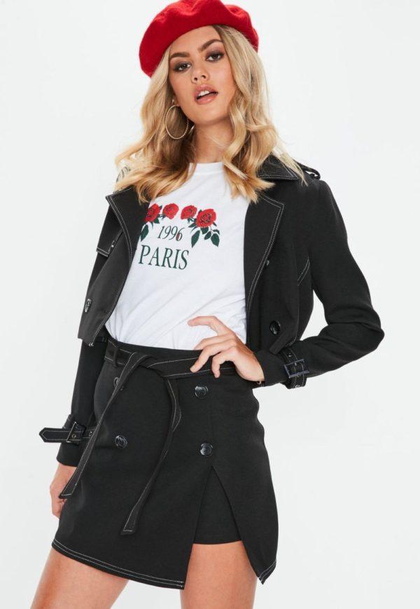 женские костюмы с юбкой: черный