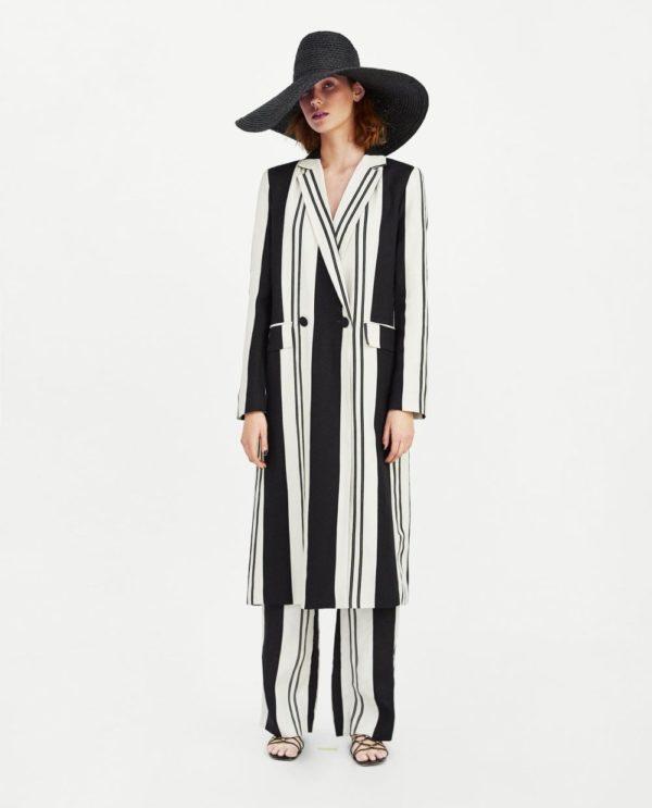 модные костюмы женские фото: черно-белый в пижамном стиле