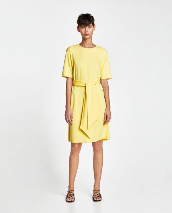 стильные луки 2019-2020: с желтым платьем