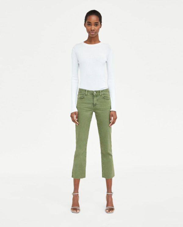 стильные луки: с зелеными джинсами