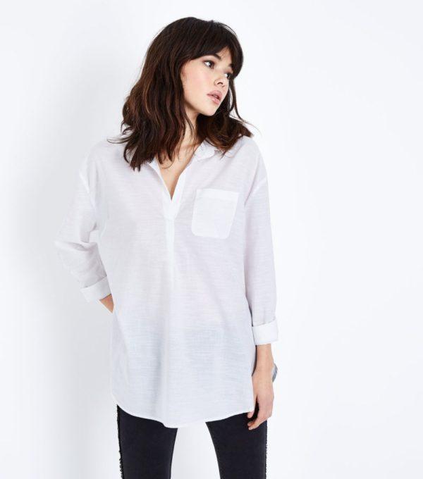 с белой блузой