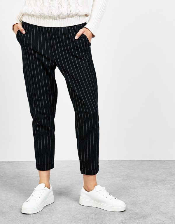 укороченные женские брюки с чем носить: чинос