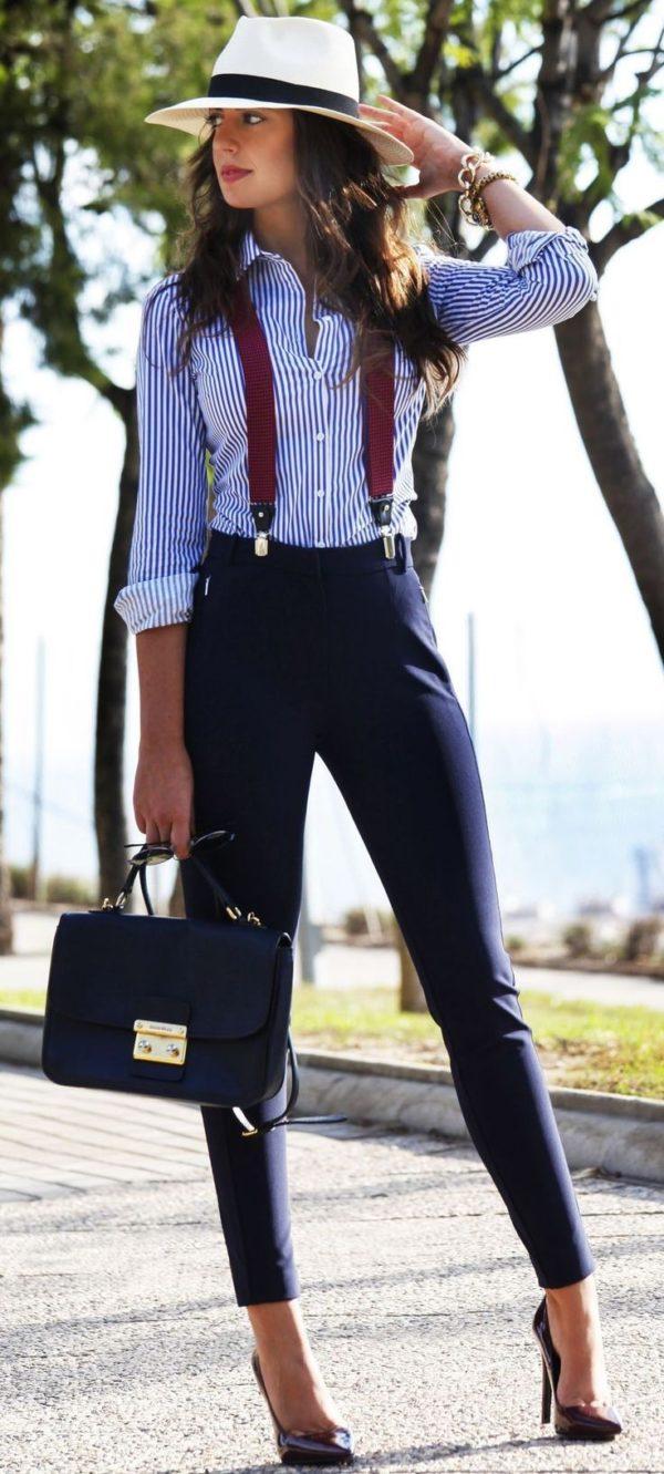 Укороченные брюки дудочки женские