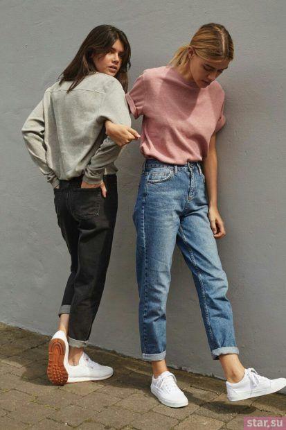 С чем носят короткие штаны:  образ с джинсами