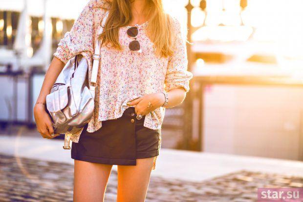 модные летние образы 2019: юбка короткая черная