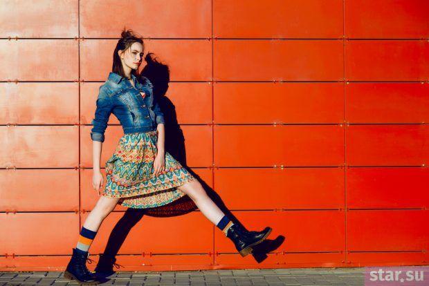 модные образы лето 2019: юбка с принтом