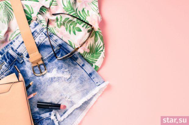 летние модные образы 2019: синие шорты