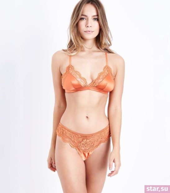 оранжевое нижнее белье