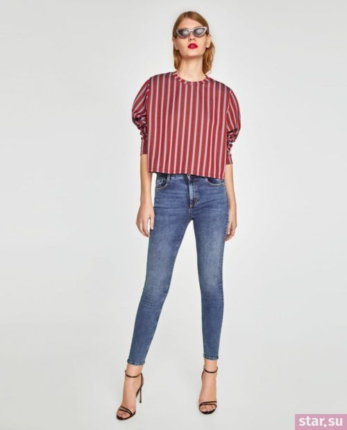 синие джинсы узкие