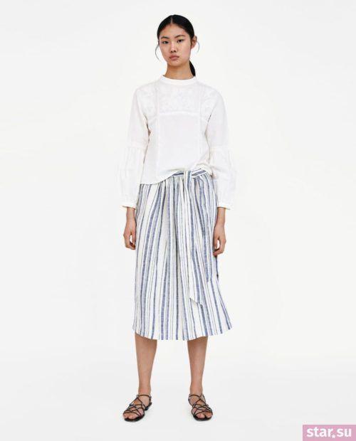 модные образы лето 2019: юбка в полоску