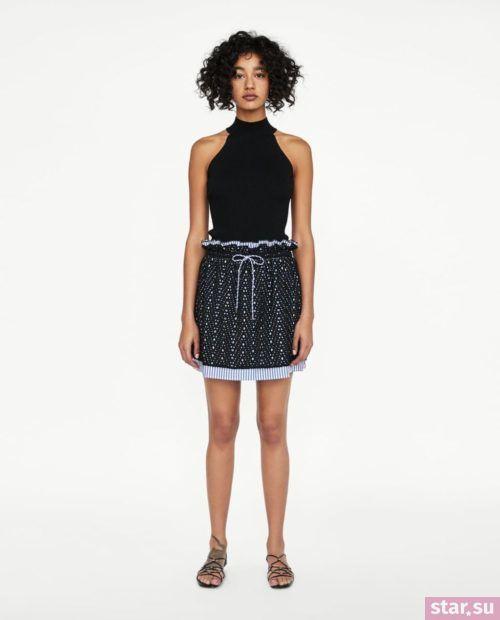 модные летние образы 2019: юбка в сеточку