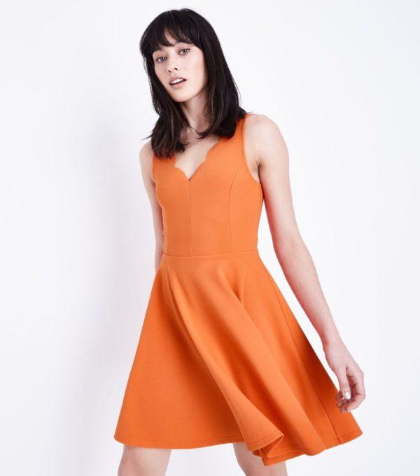 оранжевый сарафан