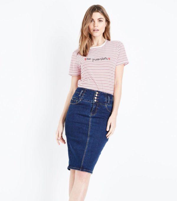 джинсовая миди