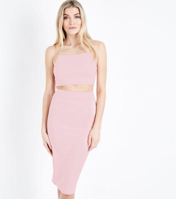 розовая миди
