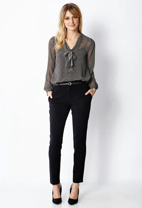 шифоновая блузка: прозрачная черная