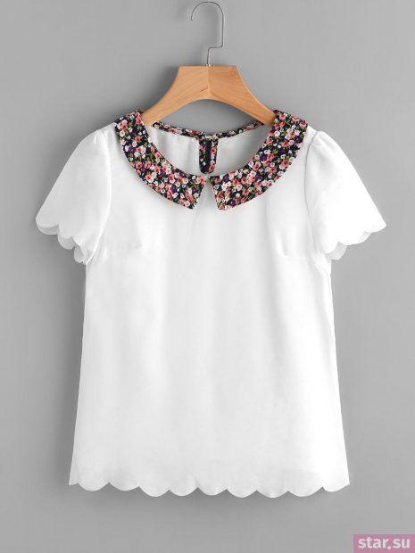Модные шифоновые блузки с короткими рукавами