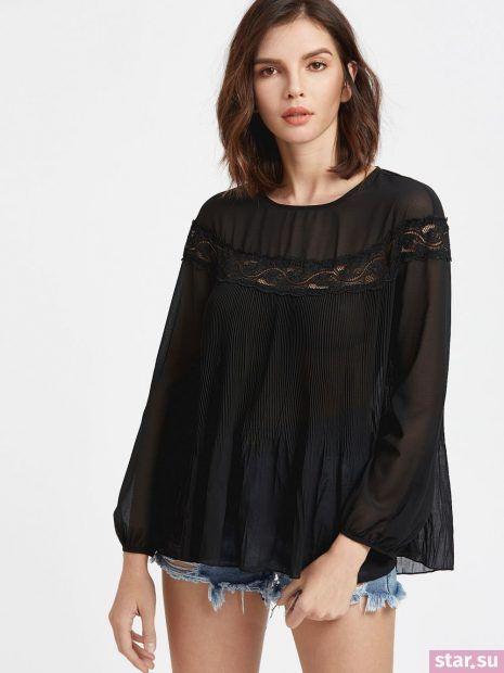 Модные шифоновые блузки свободного кроя