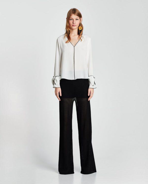 шифоновая блузка: белая