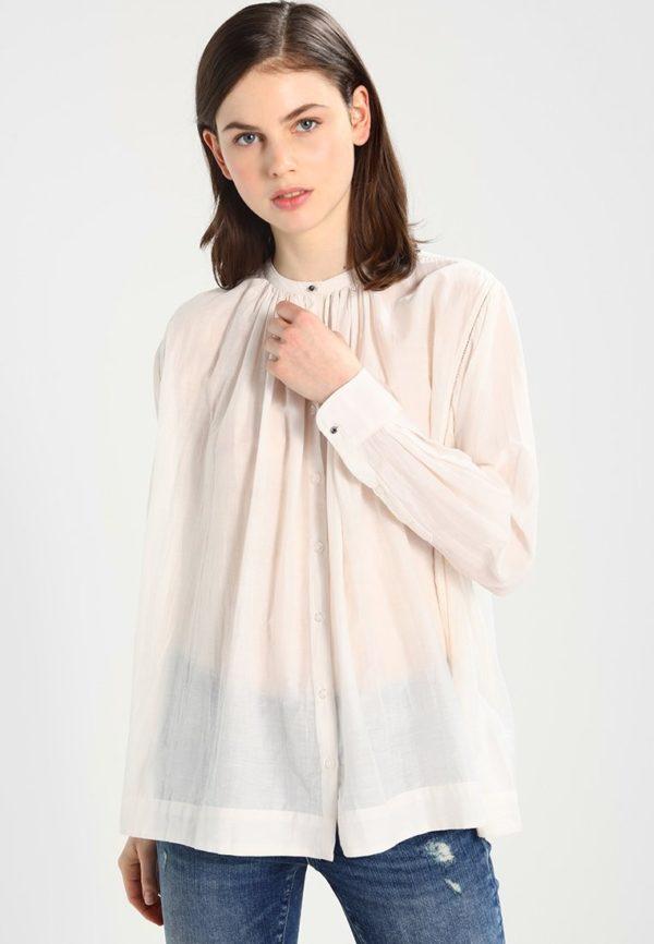 шифоновая блузка: Жатая белая