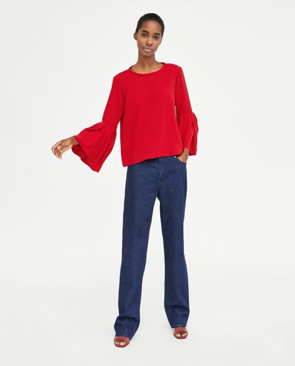 Модная блузка из шифона 2019-2020 года: красная