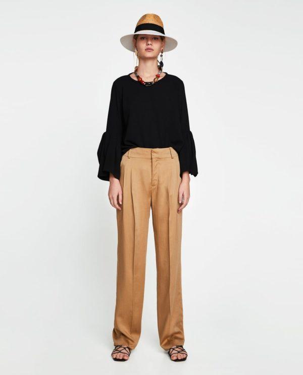 Модная блузка из шифона 2019-2020 года: черная