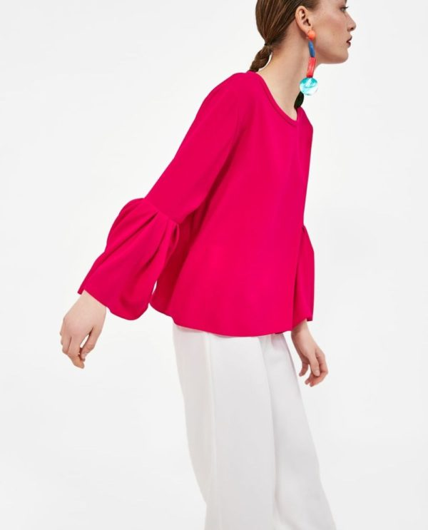 Модная блузка из шифона 2019-2020 года: розовая