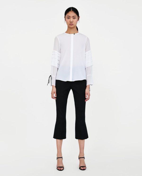 Модная блузка из шифона 2019-2020 года: белая