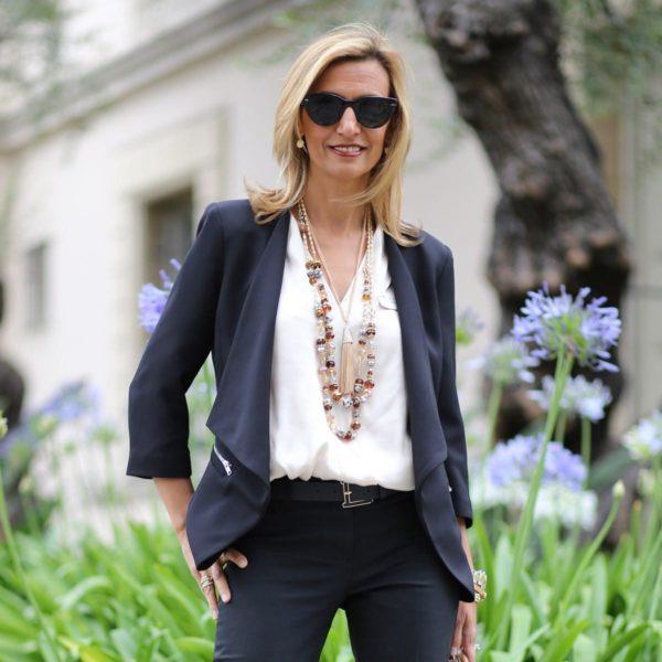 Модные женские пиджаки 2018-2019: синий