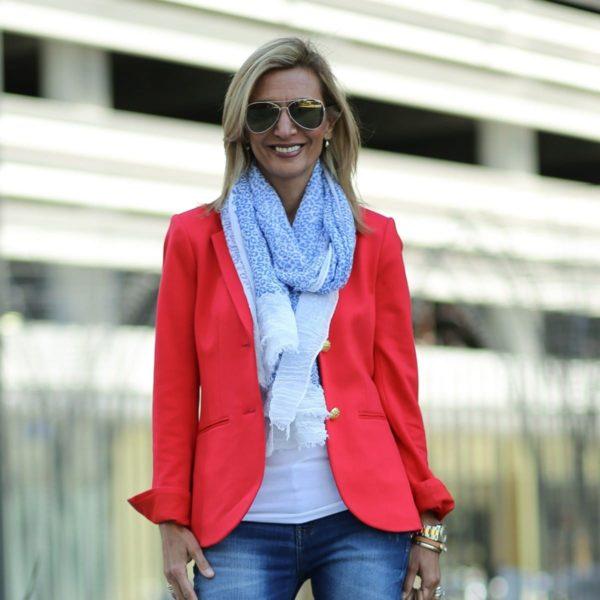 Модные женские пиджаки 2018-2019: красный