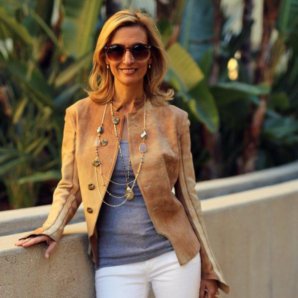 Модные женские пиджаки 2018-2019: коричневые