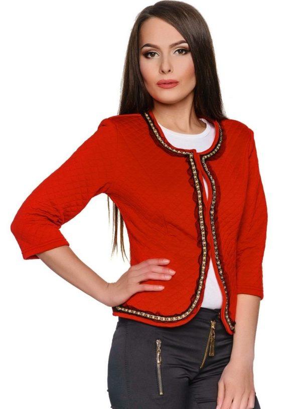 Модные женские пиджаки 2018-2019: Укороченный красный