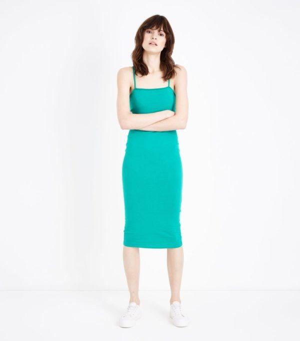 Модное зеленое платье на каждый день весна лето 2019