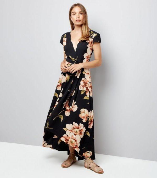 8ab15c73156 Модные платья на каждый день весна лето 2019  черное с принтом