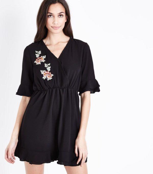 Модное черное платье на каждый день весна лето 2019