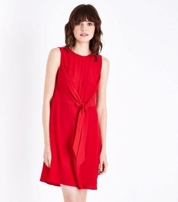 Модное красное платье на каждый день весна лето 2019
