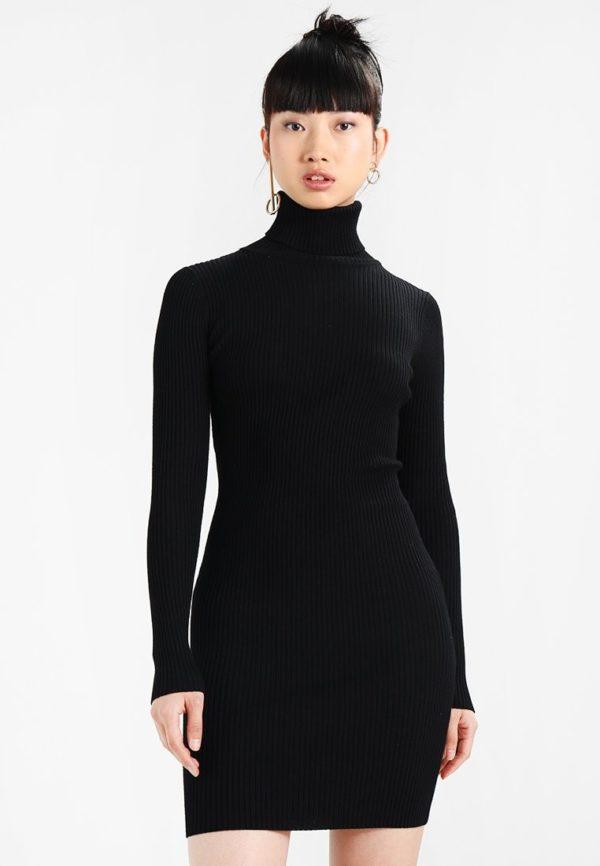 платья на каждый день: черное осень зима